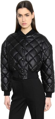 Stella McCartney Cropped Quilted Bomber Jacket | #Chic Only #Glamour Always