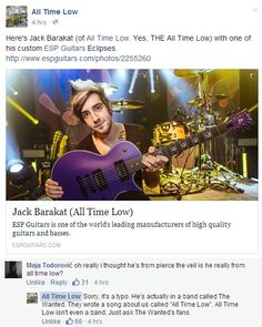 Whoever runs the All Time Low facebook is so sassy