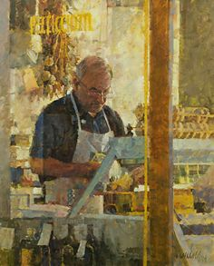 "Poultry Merchant by James Crandall Oil ~ 30"" x 24"""