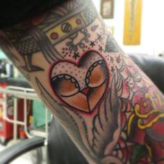 scrink: Fun little #gap filler.. #traditional #tattoo #nocrossnocrowntattoo by joe_tatum
