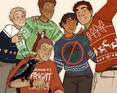 Noah, Adam, Blue, Gansey, & Ronan