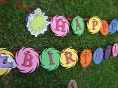 The lorax birthday banner