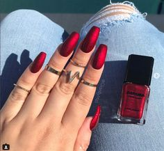 A manicure is a cosmetic elegance therapy for the finger nails and hands. A manicure could deal with just the hands, just the nails, or Cute Nails, Pretty Nails, My Nails, Polish Nails, Bio Gel Nails, Pretty Eyes, Fall Nail Art Designs, Acrylic Nail Designs, Red Nail Designs