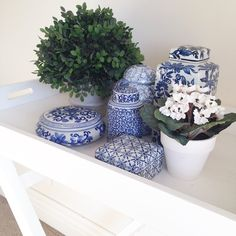 This is a pic of some of my Blue and white china. Di from @botticellihouse has some expert advice on DIY Decorator today @my_whitehouse #thatsnotanewprovincialhomelivingtrayhaditforever #diy #diydecorator #blueandwhite #hbmystyle #interiors #decor #decorating