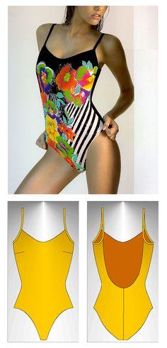 Swimsuit sewing pattern Itaca - Patrón de traje de baño Itaca
