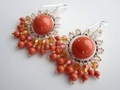 Coral Earrings. Коралловые серьги - YouTube