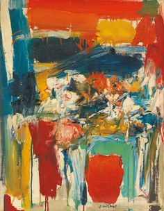 Joan Mitchell ( 1925-1992) Untitled (1955)  oil on canvas 56.5 x 43.8cm