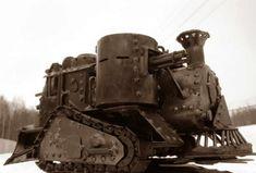 Стим-танк, гусеничный бронепоезд. Ко дню Защитника отечества.