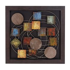 Shop for Casa Cortes Geometric Abstract Art Metal Wall Decor. Get free delivery On EVERYTHING* Overstock - Your Online Art Gallery Shop! Abstract Metal Wall Art, Metal Sculpture Wall Art, Metal Artwork, Wall Sculptures, Abstract Art, Metal Wall Decor, Wall Art Decor, Art Van, Metallic Paint