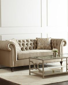 Pepper Tufted Sofa at Neiman Marcus.