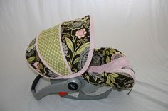 This FABRIC is IN STOCK and available to make a custom infant car seat cover for your brand of car seat! The cover will be made exactly as shown