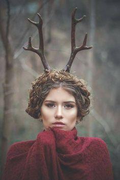 Cuernos de ciervo / fauno / hada  por CostureroReal en Etsy