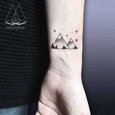 Mountain Tattoo by mentat_gamze