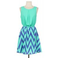Grace's Boutique: Contrast Chevron Dress only $37.50
