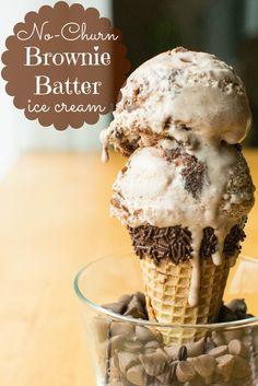 No-Churn Brownie Batter Ice Cream