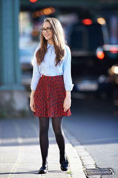 faldas estilo clasico moda