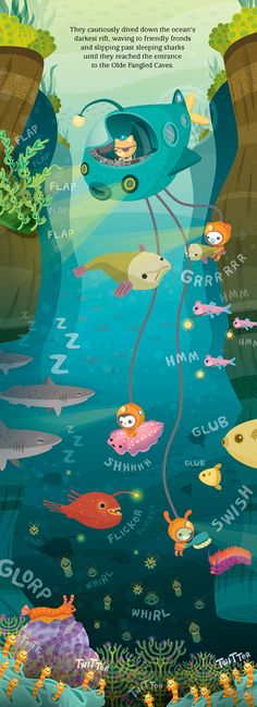 The artwork in Octonauts books is amazing