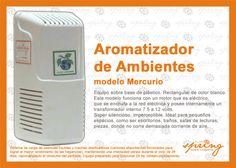 Aromatizador para Ambientes - Modelo Mercurio