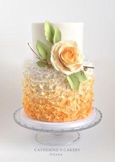 Harvest Showcase fall themed wedding cake by Catherine Beddall, Catherine's Cakery  Satin Ice