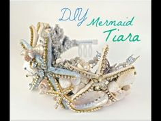 how to make a seashell crown with a dollar store plastic tiara and seashells | Debis Design Diary