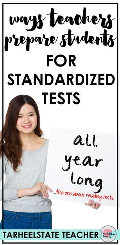 """How do we prepare students for standardized tests without a heavy focus on """"THE TEST"""" and multiple-choice questions ALL-YEAR-LONG? Today, I'm sharing a multitude of ways we teachers prepare our students for end of year state tests. Teacher Blogs, Teacher Hacks, Teacher Resources, Cloze Reading, Reading Test, 5th Grade Teachers, New Teachers, Teaching Kindergarten, Teaching Tips"""