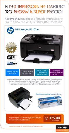 Imprima documentos en dos caras y utilice HP ePrint, para imprimir practicamente desde cualquier lugar. Agilice el flujo de trabajo, conectado con seguridad a través de conexión de red WIFI.