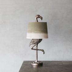 Silver Flamingo Table Lamp | Lighting | Graham & Green