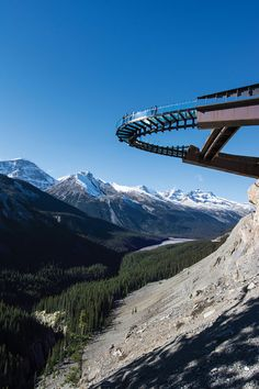 Jasper National Park's (Canada) latest attraction let you walk over a cliff and live. #roadtrippers #Jasper