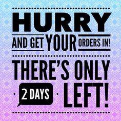 Hurry, 2 days left!