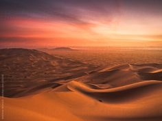 sick sunset in a morocco desert