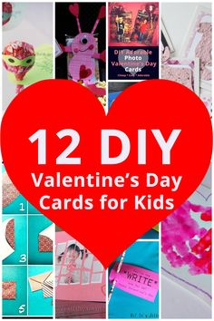 Make Your Own ADORABLE Valentine's Day Cards! Check out these 12 fun options