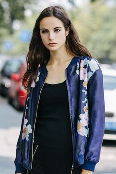 $79.99 Navy Blue Floral Jacket