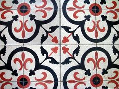 Floor tile made of cement & crushed marbles, etc..