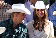 Prince William and Catherine, the Duke and Duchess of Cambridge launch the 99th annual Calgary Stampede Parade.