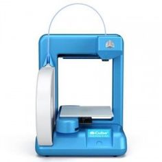 3d printer - Cube Blue 3D Printer With White Earbud Headphones
