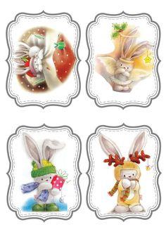 © Marina Fedotova. Christmas Clipart, Christmas Printables, Christmas Pictures, Christmas Topper, Christmas Tag, Christmas Crafts, Christmas Drawing, Gift Tags Printable, Kirigami