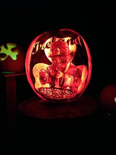 Ireland themed pumpkins were awesome.