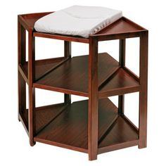Badger Basket Corner Changing Table   Cherry