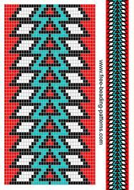 Guitar strap - tree of life - red and blue Beading Patterns Free, Seed Bead Patterns, Beaded Bracelet Patterns, Crochet Stitches Patterns, Peyote Patterns, Weaving Patterns, Native American Patterns, Native American Beading, Mochila Crochet