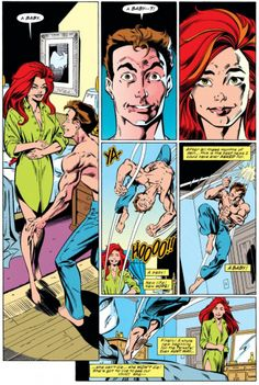 MJ tells Peter she's pregnant in Amazing Spider-Man #398
