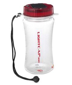 Solar-Powered Illuminating Water Bottle: The BPA-free bottle has a solar powered lid (four bright LEDs are sealed inside the cap), which illuminates the liquid inside while also eliminating battery frenzy.