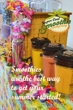 Looking for a fun, festive beverage station for your next special event? Super Cool Smoothie Company serves the greater Atlanta area smoothies and fun! Great party idea for all ages. We do weddings, too! Call us today: 770-664-1634. #creativedrinkideas