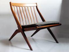 1950's Scissor chair by Folk Ohlsson for DUX