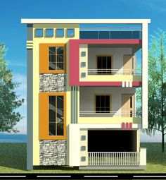 planning, elevational designes ,constructions of residential and commercial buildings House Arch Design, Single Floor House Design, House Outside Design, 2 Storey House Design, Home Building Design, Bungalow House Design, 2bhk House Plan, Model House Plan, House Construction Plan