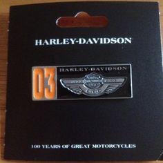 Harley Davidson 100th Anniversary Items | Harley Davidson 100th Anniversary Two Tone Pin NWT LQQK | eBay