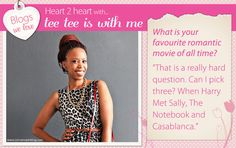 Thithi of 'tee tee is with me' tells us about her favourite romantic movies.