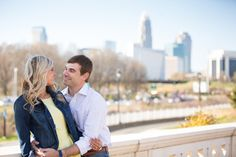 Engagement photgraphy session near uptown Charlotte, NC at Pearl Park   Photo By BlueSky Studios