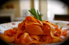 Sweet potato pasta Whole 30 note: Use coconut oil not butter.