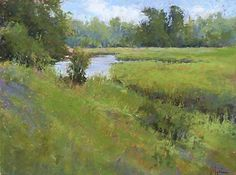 Scarborough Marsh by Jacob Aguiar Pastel ~ 11 x 14