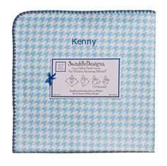 Soft cotton flannel is perfect for tummy time, swaddling and car rides     42 inches square     Made in USA     Personalization available for an additional charge. Double check spelling as personalized items cannot be returned.     Thread color for personalization is light true blue.